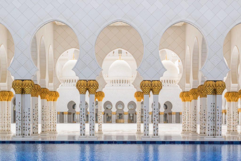 Mosquée d'Abu Dhabi aux UAE