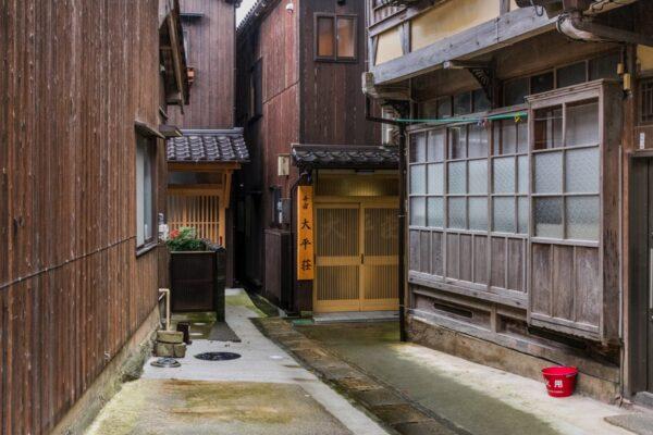 Une ruelle d'Ine au Japon