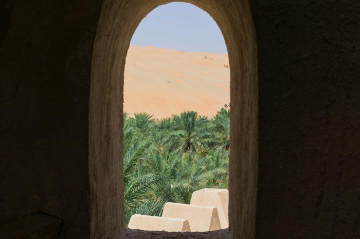 Vue depuis un fort de Liwa