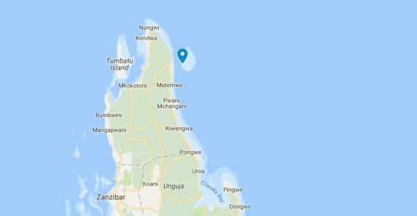 Carte de Mnemba Island à Zanzibar