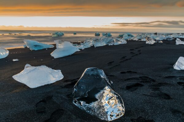 Diamond beach à Jokulsarlon