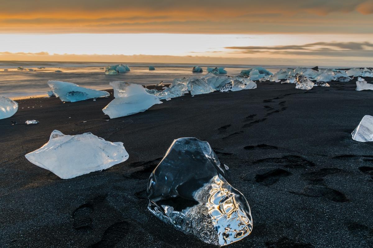 Diamond beach à Jokulsarlon