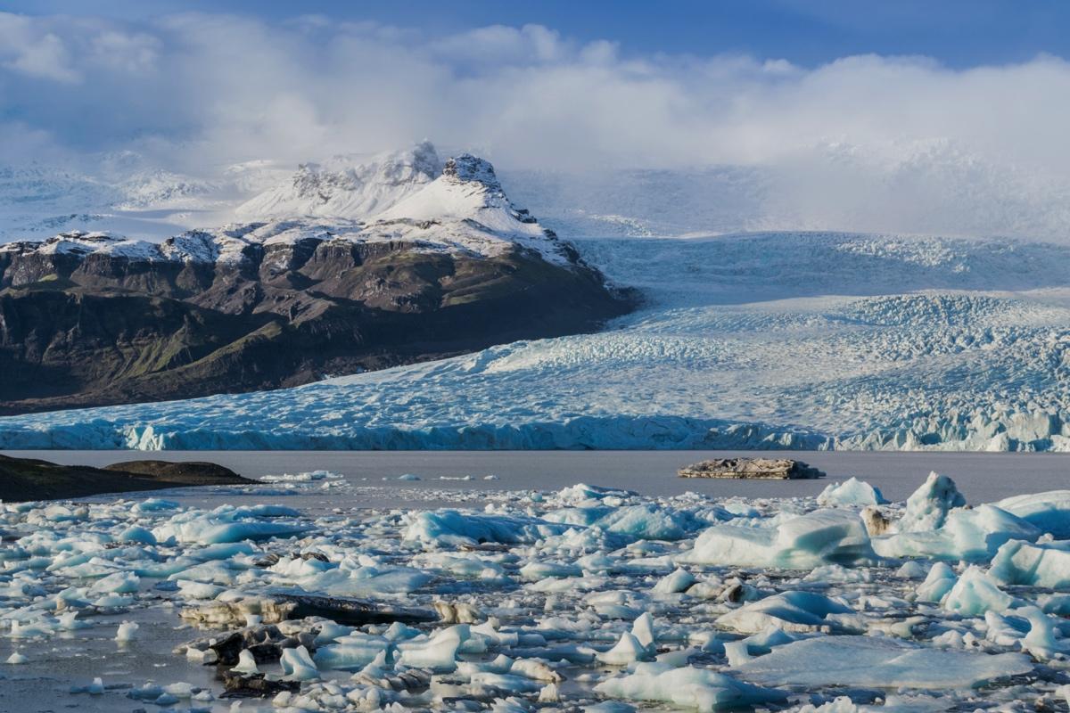 Glacier de Jokulsarlon en Islande
