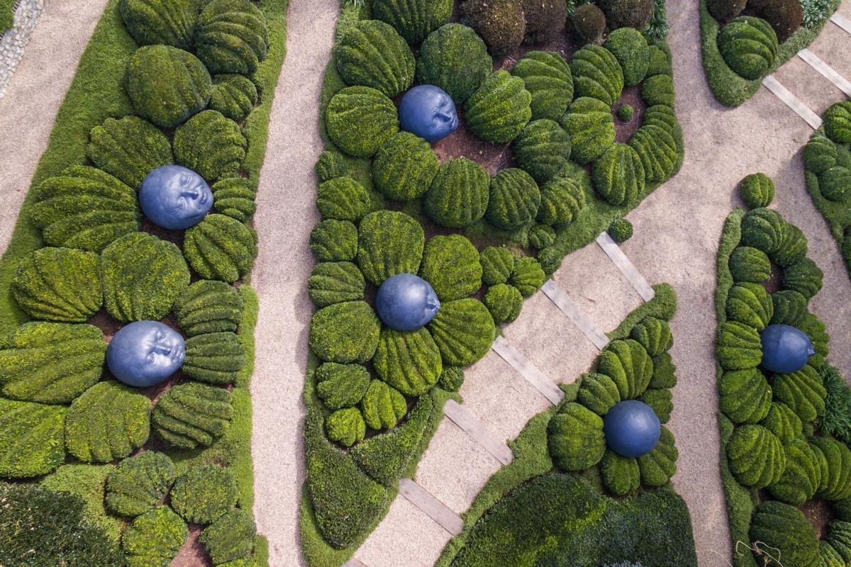 Jardins d'Etretat vue depuis un drone