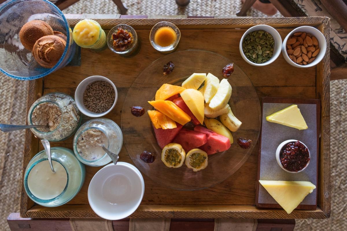 Petit déjeuner au lodge andBeyond Mnemba