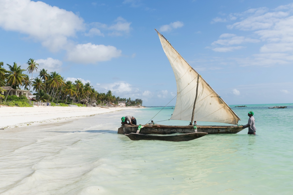 Plage de Jambiani à Zanzibar