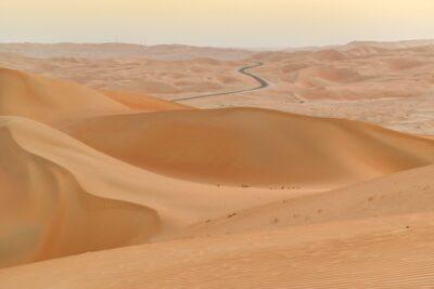 Désert de Liwa, route menant à Moreeb Dune
