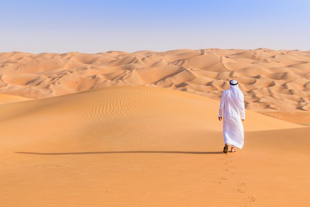 Dunes de Liwa dans l'émirat d'Abu Dhabi