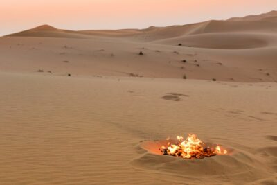 Feu dans le Rub al Khali aux UAE