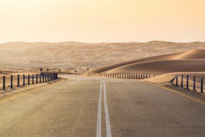 Fin de journée sur les routes du Rub al Khali