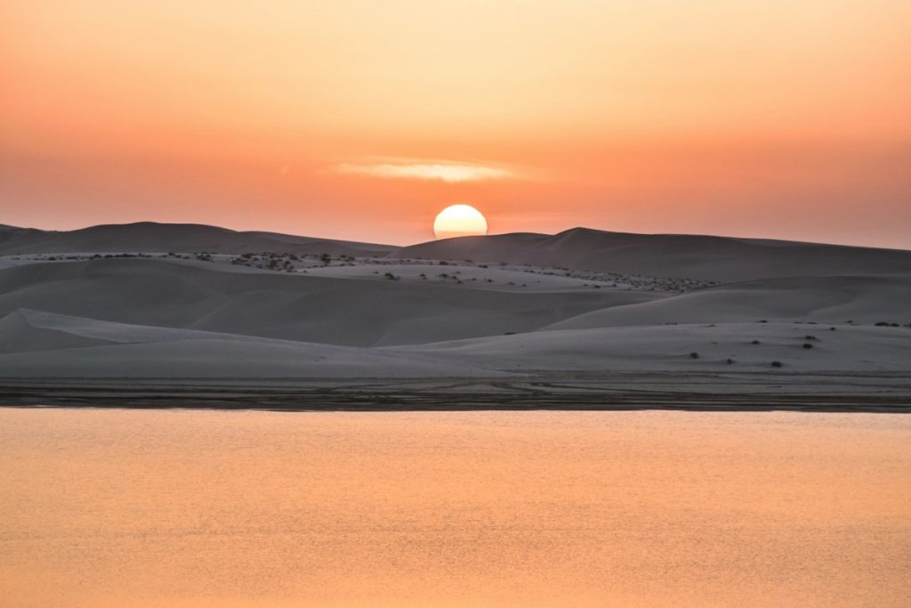 Sunset à Khor al Adaid