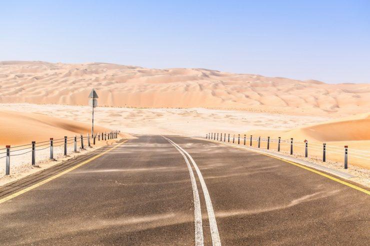 Liwa desert road