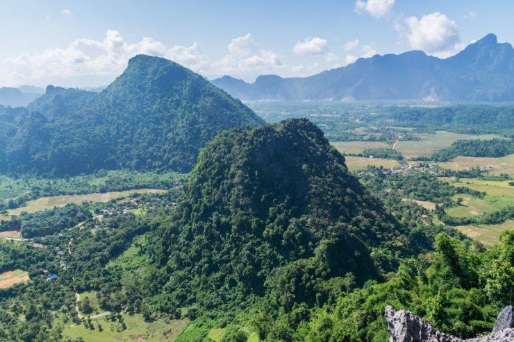 Panorama après une randonnée à Vang Vieng au Laos