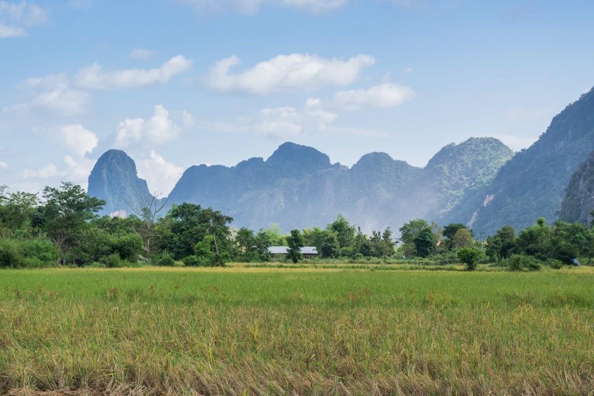 Paysage autour de Vang Vieng