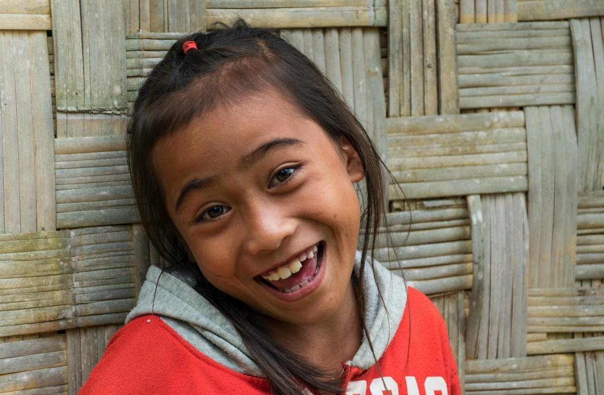 Portrait dans un village du Mékong au Laos