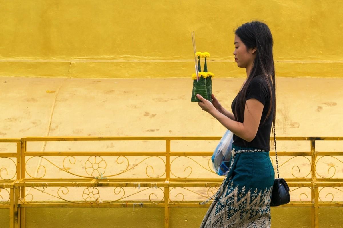 Prière à Vientiane