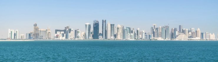 Skyline de Doha au Qatar