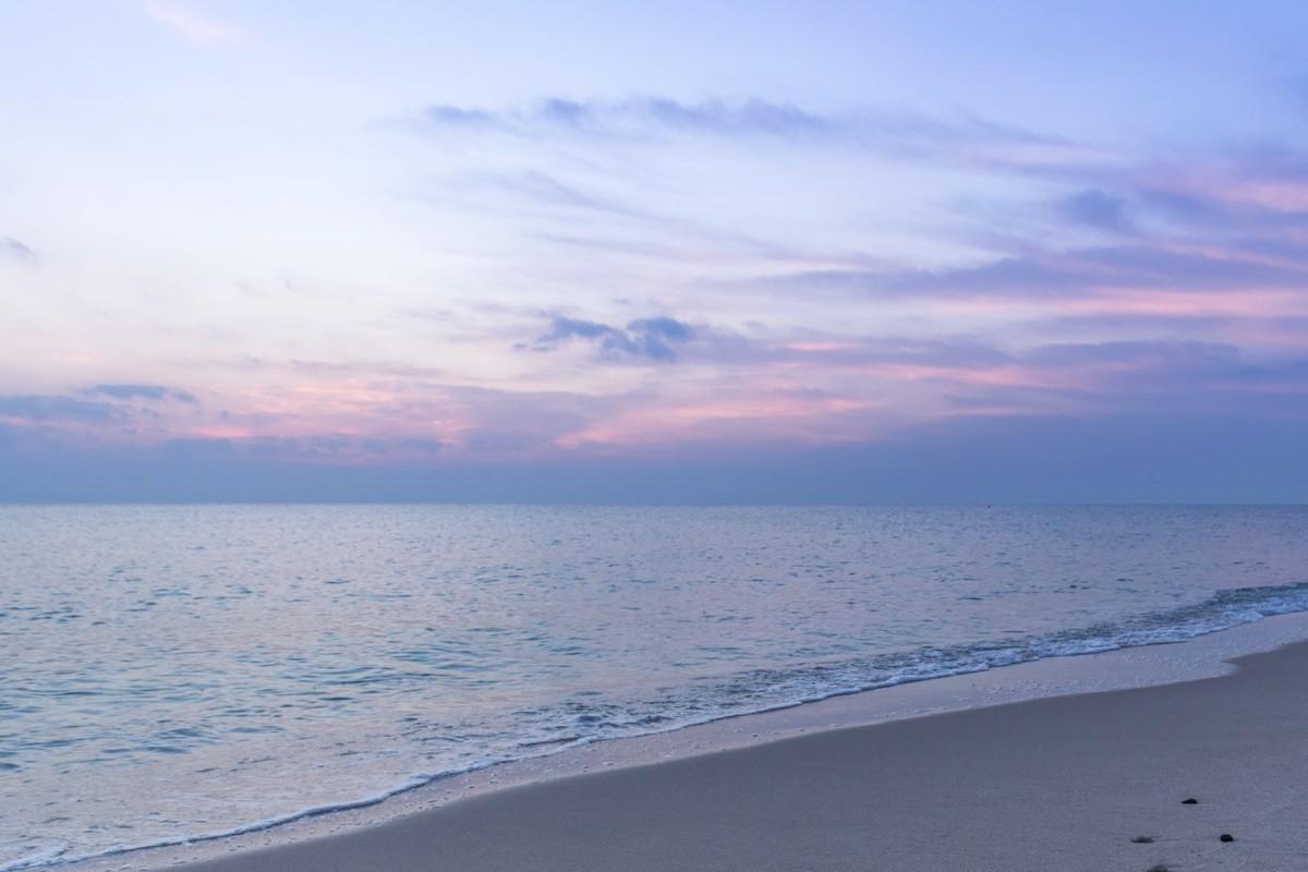 Sunrise dans le sud du Qatar