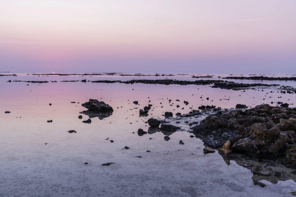 Sunset dans le nord du Qatar