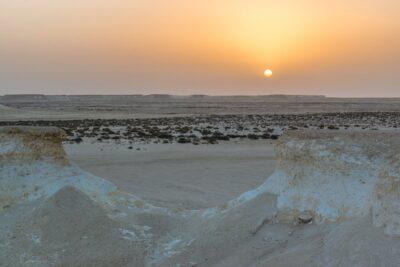 Sunset à Ras Abrouq au Qatar