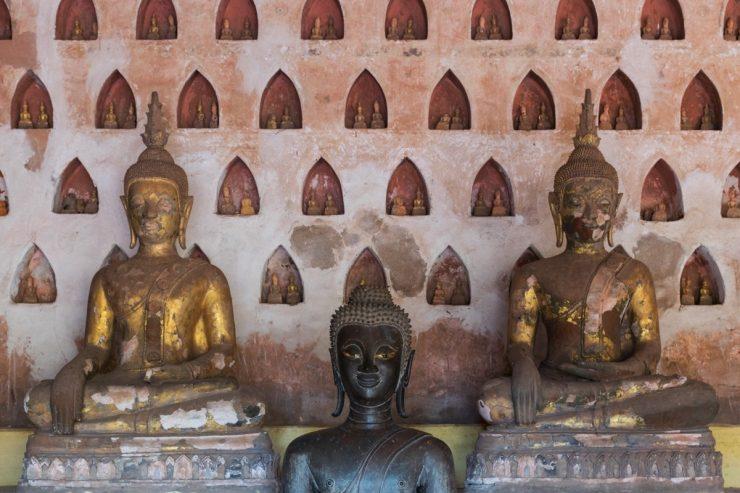 Temple à Vientiane au Laos