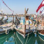 Dhow dans le port d'Al Khawr au Qatar