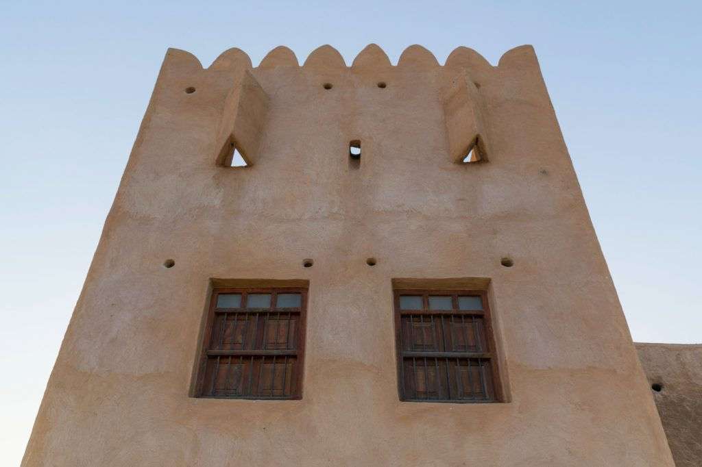 Fenêtres à l'intérieur du fort al Zubarah