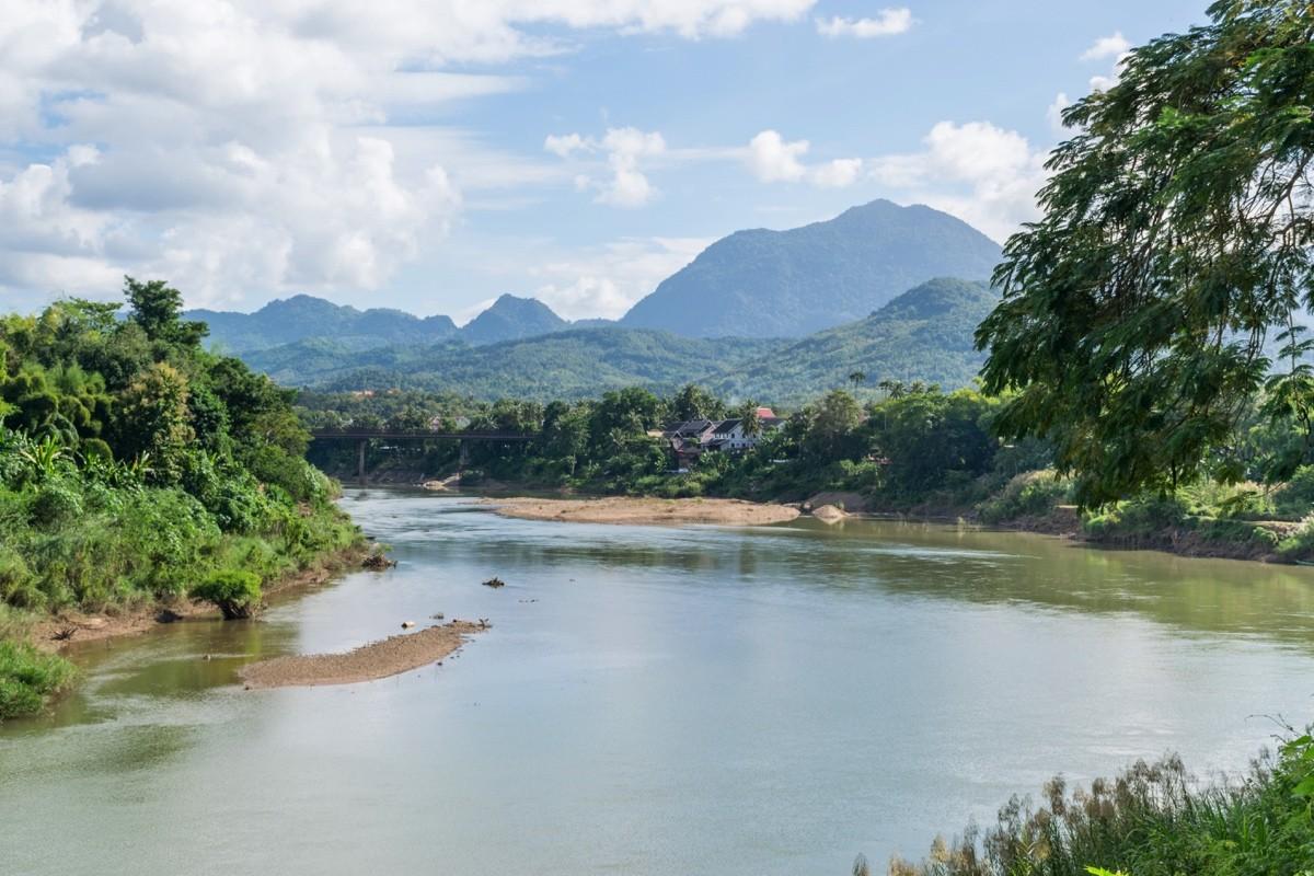 Nam Khan river à Luang Prabang