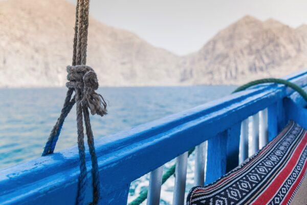 Dhow dans la péninsule du Musandam à Oman