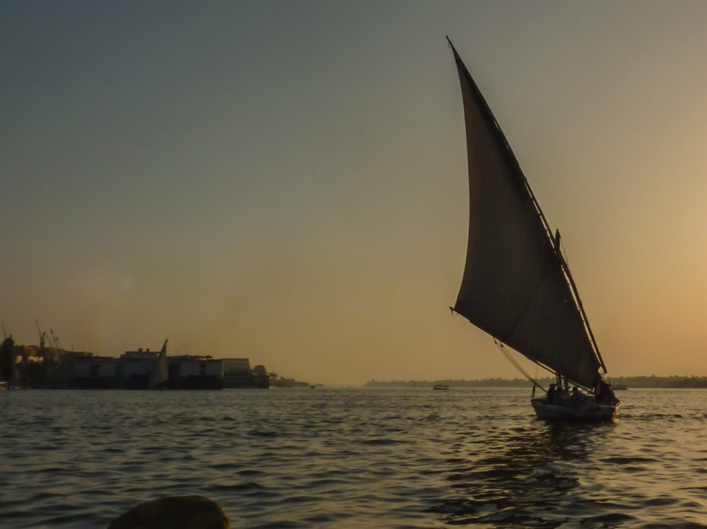 Felouque sur le Nil à Louxor