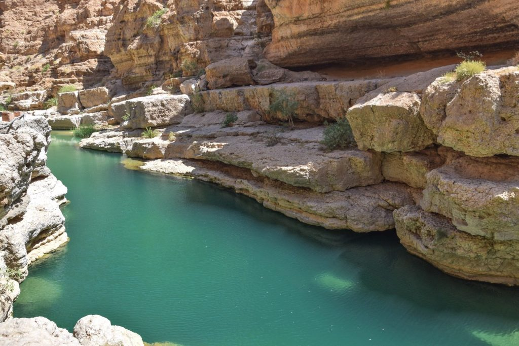Wadi Shab au sultanat d'Oman