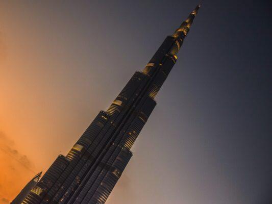 Burj Khalifa de nuit à Downtown Dubai