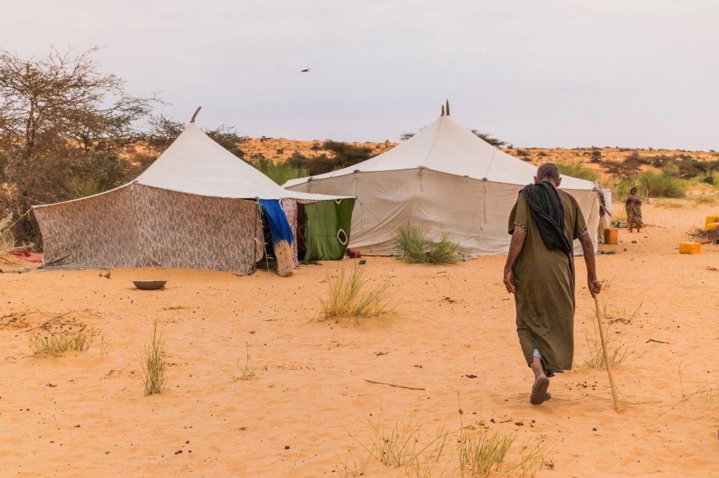 Campement bédouin en Mauritanie