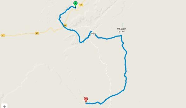 Carte de la randonnée en Mauritanie : une semaine dans l'Adrar