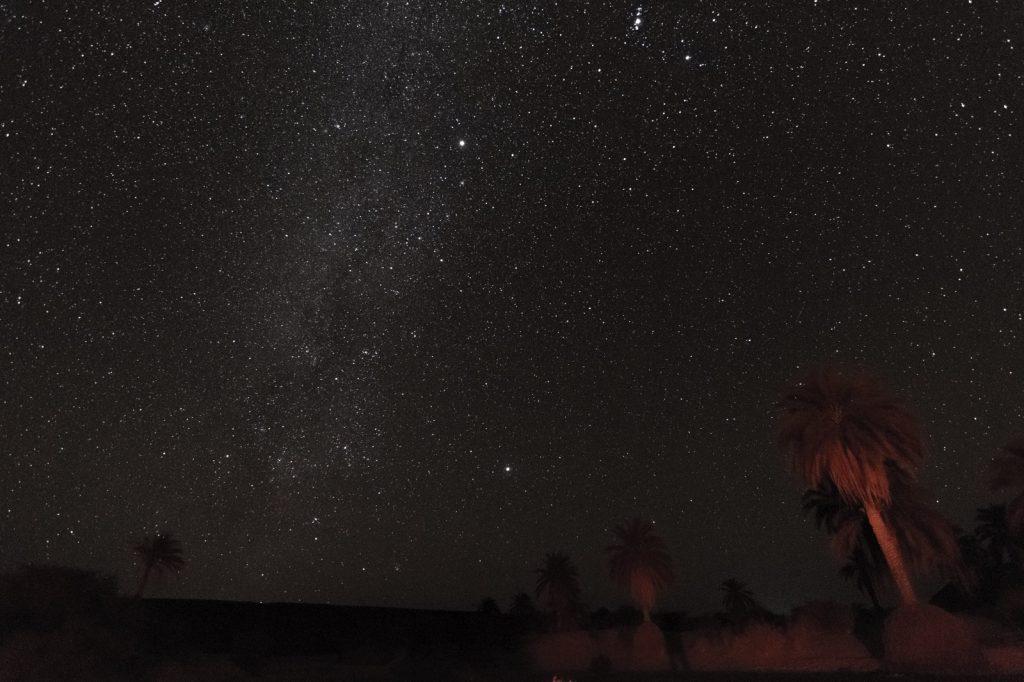 Ciel étoilé dans l'Adrar