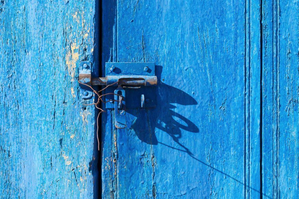 Porte d'une maison en Mauritanie