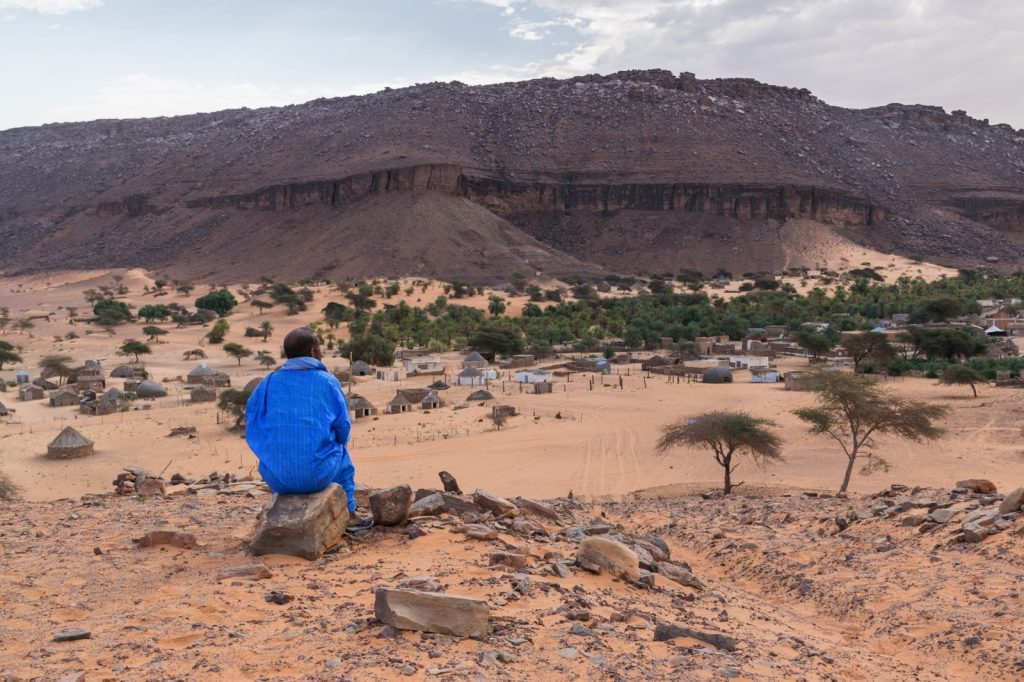 Vue sur Tergit en Mauritanie