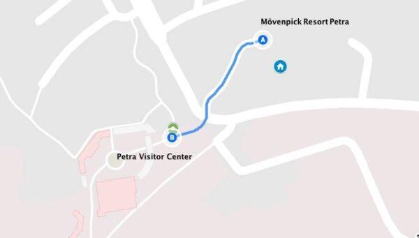 Accès au Mövenpick Resort Petra