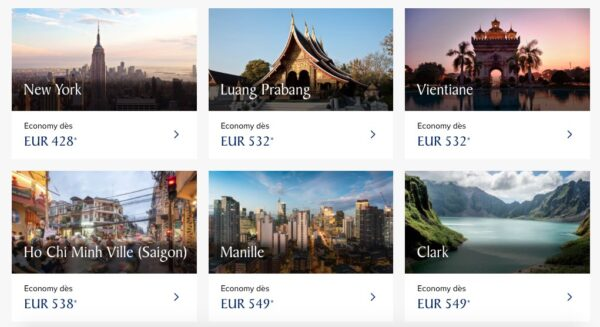 Avis Singapore Airlines : promotions