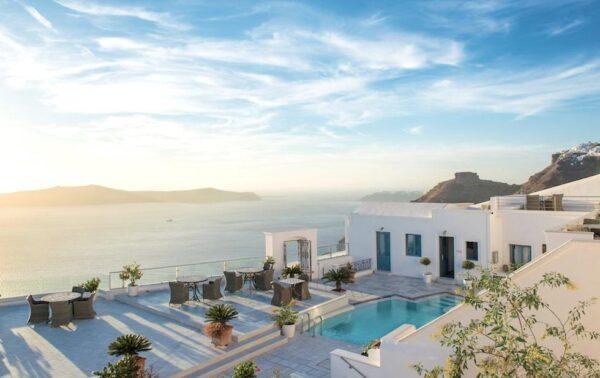 Hébergement à Santorin avec vue