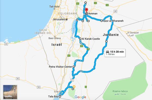 Itinéraire de road trip en Jordanie