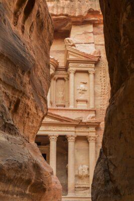 Khazneh à Pétra en Jordanie