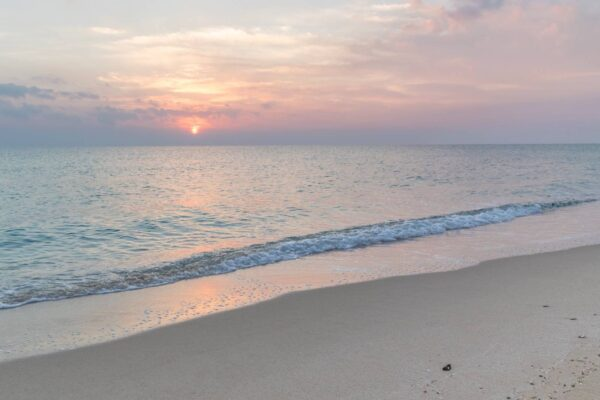 Lever de soleil au Qatar