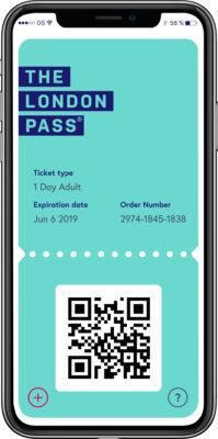 London Pass en version numérique sur mobile