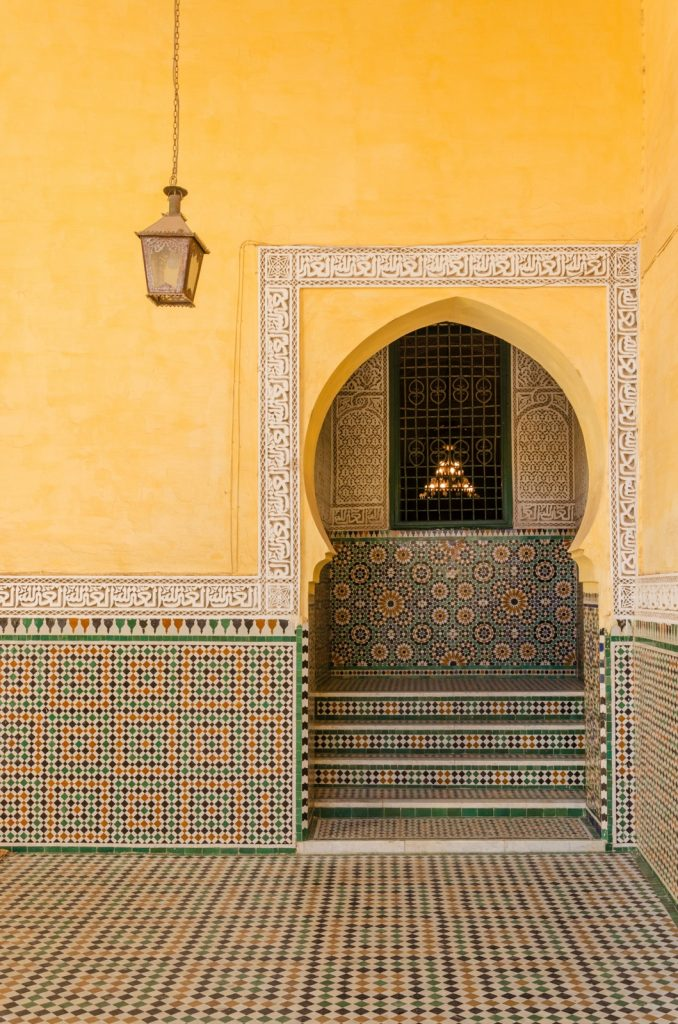 Mausolée de Moulay Ismail à Meknes au Maroc