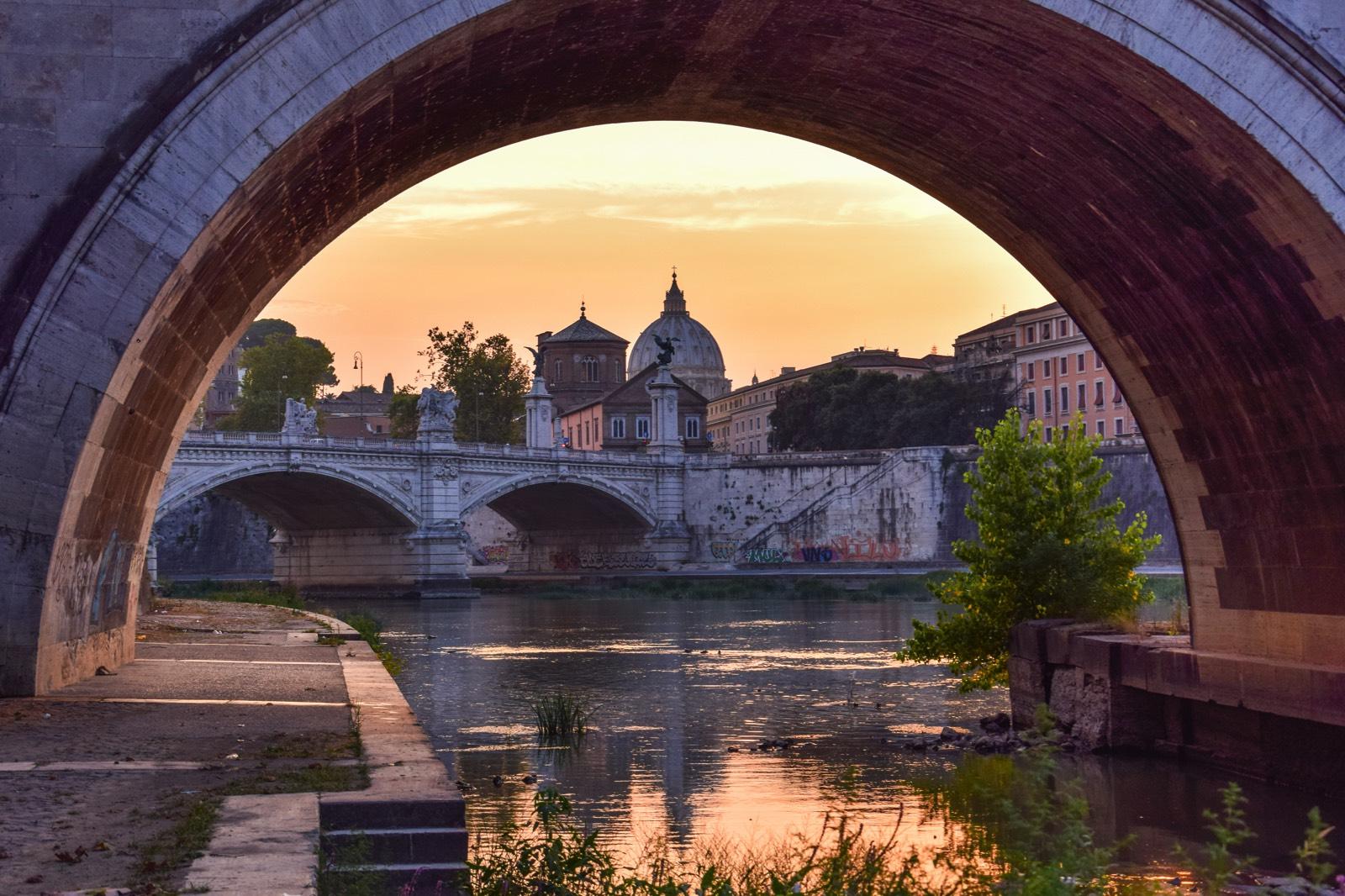 Pass Pour Visiter Rome Coucher De Soleil