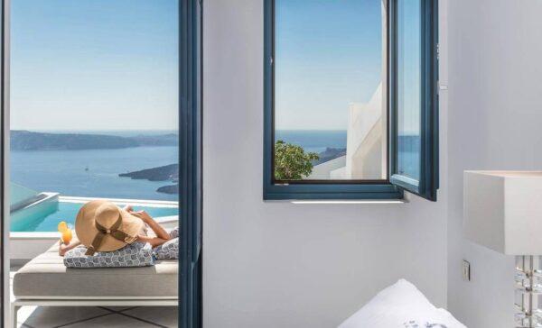 Se loger à Santorin : Fira