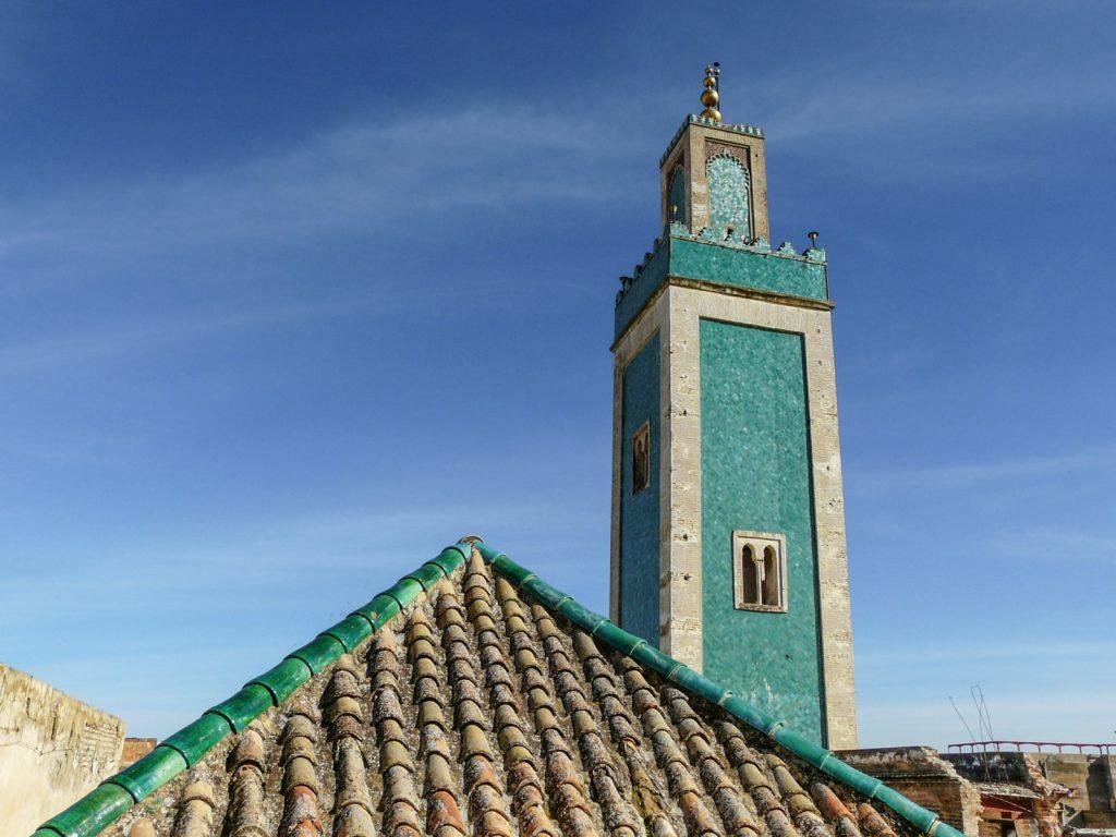Terrasse de la médersa Bou Inania à Meknès