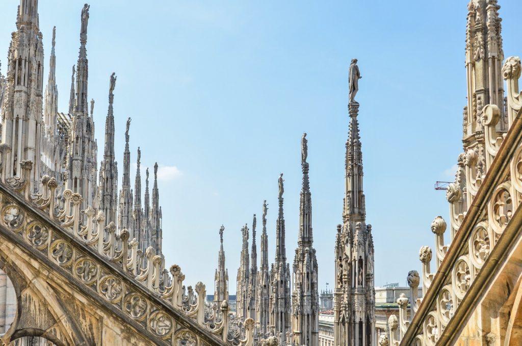 Sur le toit du Duomo de Milan