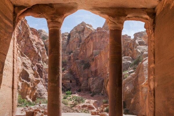 Tombeau à Pétra en Jordanie